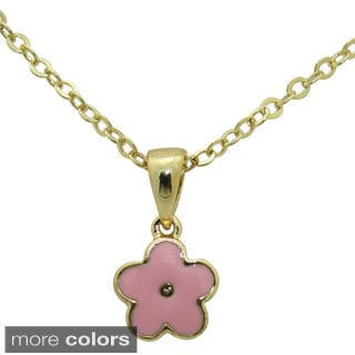 Junior Jewels Enamel Flower Pendant