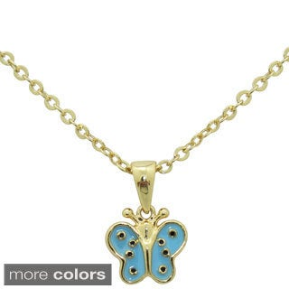 Junior Jewels Enamel Fancy Butterfly Pendant