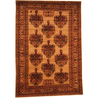 Herat Oriental Afghan Hand-knotted Semi-antique Tribal Balouchi Wool Rug (6'10 x 9'10)