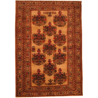 Herat Oriental Afghan Hand-knotted Semi-antique Tribal Balouchi Wool Rug (6'10 x 9'9)
