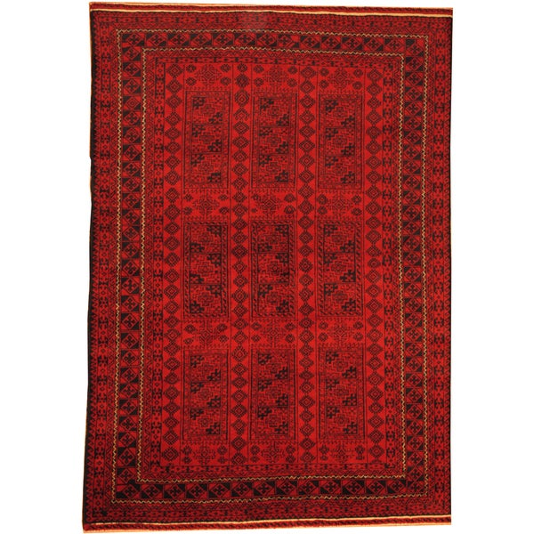 5 X 6 Vintage Kazak Persian Oriental Wool Hand Knotted: Shop Herat Oriental Afghan Hand-knotted Semi-Antique