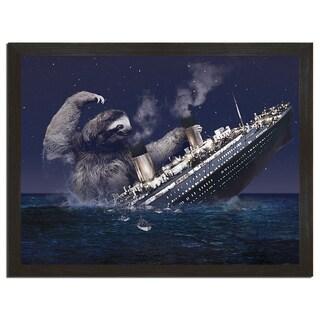 Sloth Titanic 18x24-inch Art Print