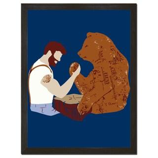Arm Wrestling 18x24-inch Art Print