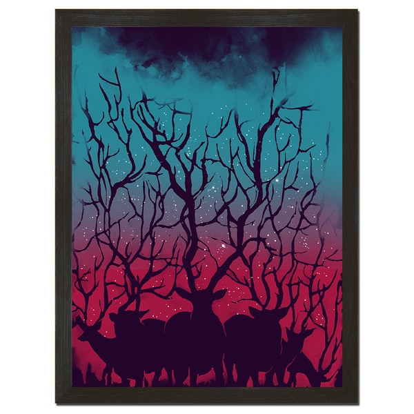 Deer Forest 18-inch x 24-inch Art Print
