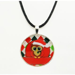 Be The Envy Holiday Owl Necklace - Red