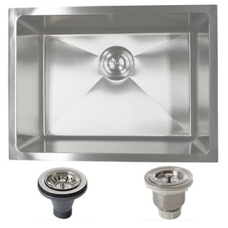 Phoenix PLZ10BG-BASK-DEL 23-inch Stainleess Steel Undermount Single Bowl Kitchen Sink