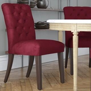 Made to Order Tufted Mor Dining Chair in Velvet Rouge