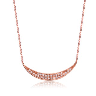 Collette Z Rose-plated Sterling Silver Cubic Zirconia Fine and Elegant Necklace