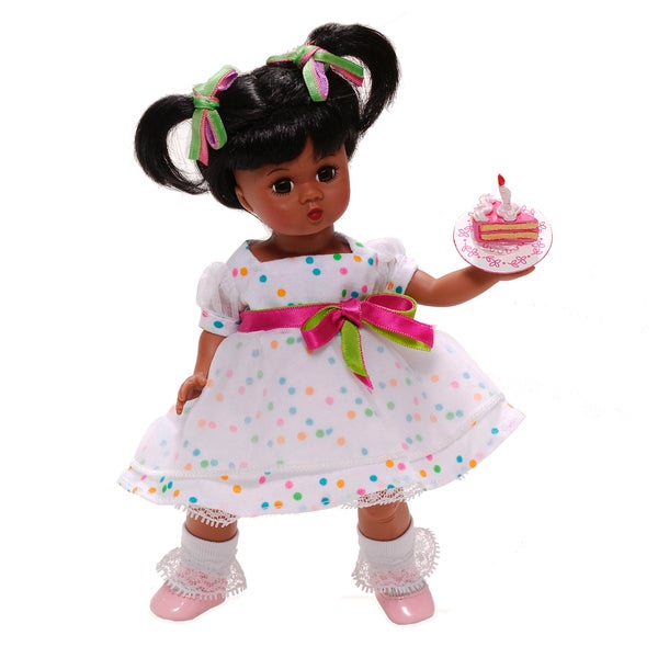 It's Your Birthday Eat Cake African American Doll