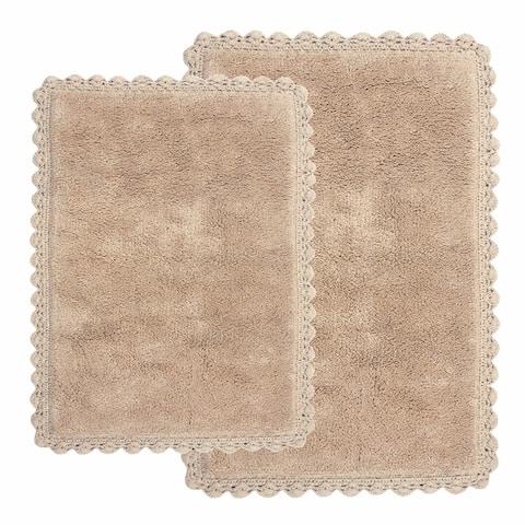 "Chesapeake Crochet 2 pc. Bath Rug Set (21""x34"" & 17""x24"")"