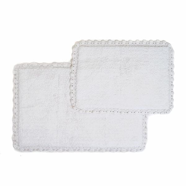 "Chesapeake Crochet 2 pc. Bath Rug Set (21""x34"" & 17""x24"") - 21""x34""/17""x24"""