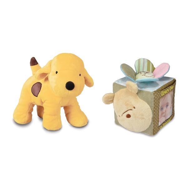 Winnie the Pooh Plush and Memory Block Bundle