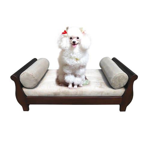 Handmade D-Art Sleigh Dark Brown Pet Bed (Indonesia)
