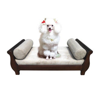 Handmade D-Art Sleigh Dark Brown Pet Bed (Indonesia)