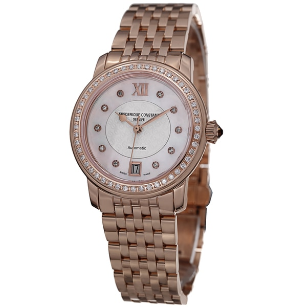 6eb701fe2cb5 Shop Frederique Constant Women s  Ladies Automatic  Rose Goldtone ...