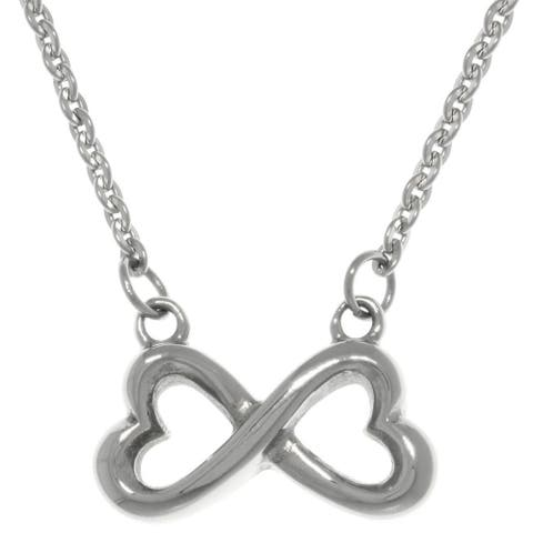 Stainless Steel Infinity Heart Pendant Necklace
