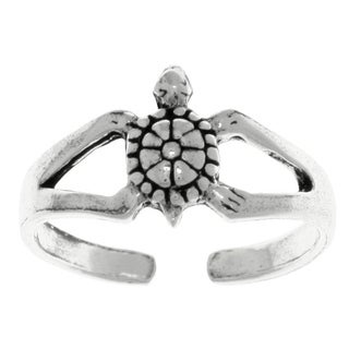 Carolina Glamour Collection Sterling Silver Turtle Adjustable Toe Ring