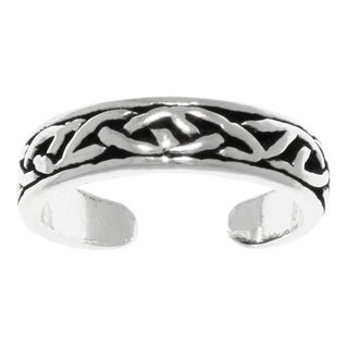 Carolina Glamour Collection Sterling Silver Celtic Design Adjustable Toe Ring