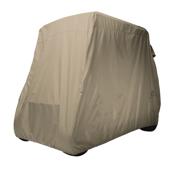 Classic Accessories Light Khaki Golf Cart Cover Long Roof