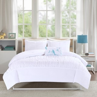 Mi Zone Tatiana White Solid Duvet Cover Set