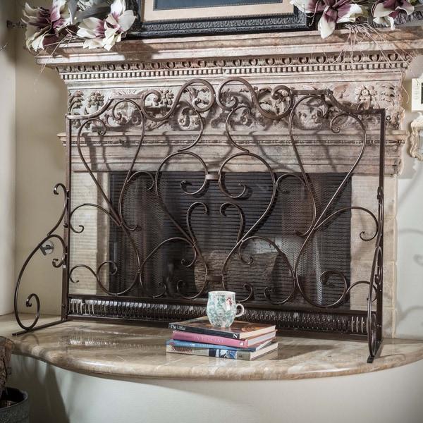 Christopher Knight Home Claridge Iron Fireplace Screen - N/A