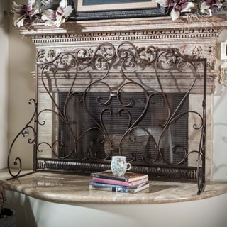 Christopher Knight Home Claridge Iron Fireplace Screen - N/A