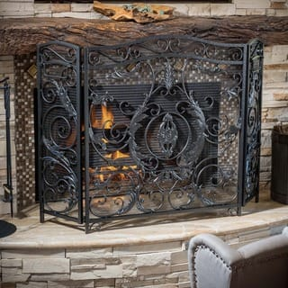 Waterbury Fireplace Screen by Christopher Knight Home|https://ak1.ostkcdn.com/images/products/9573631/P16762757.jpg?impolicy=medium