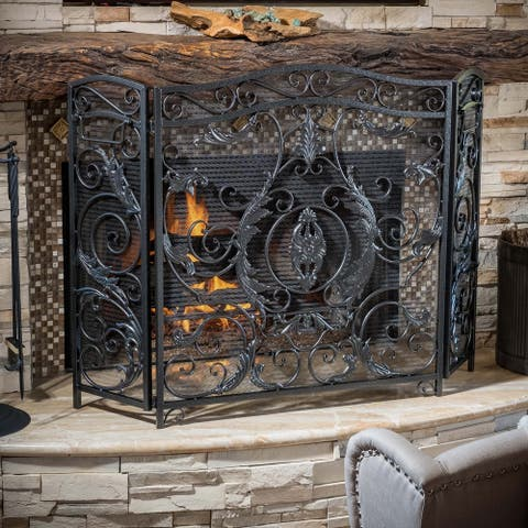 Waterbury Fireplace Screen by Christopher Knight Home - N/A