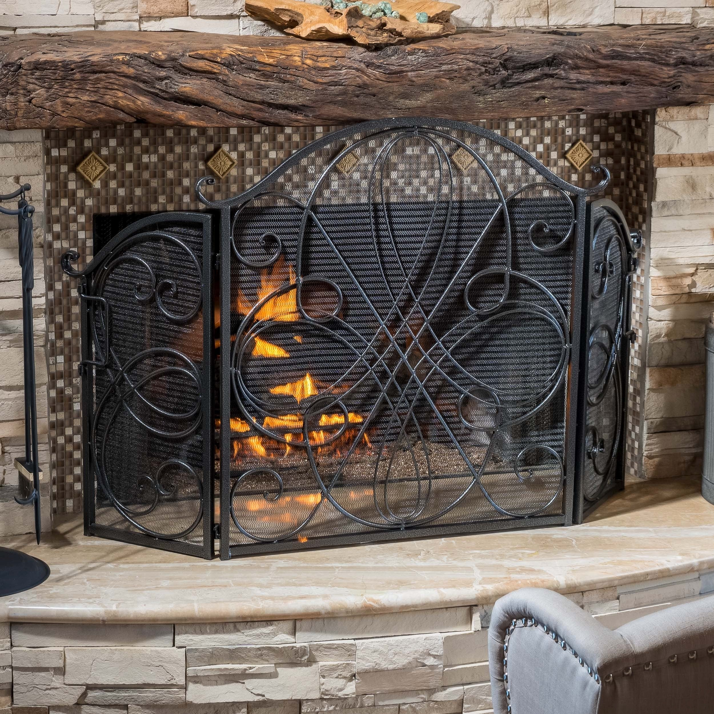 christopher knight home kingsport fireplace screen free shipping