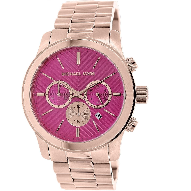 Michael Kors Womens MK5931 Runway Rose Goldtone Pink Dial Watch