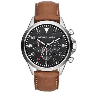 Michael Kors Men's MK8333 'Gage' Luggage Leather Chronograph Watch