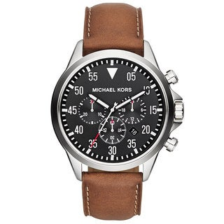Michael Kors Men's 'Gage' Luggage Leather Chronograph Watch