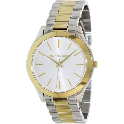Michael Kors Women's MK3198 'Slim Runway' Two-Tone Stainless Steel Watch