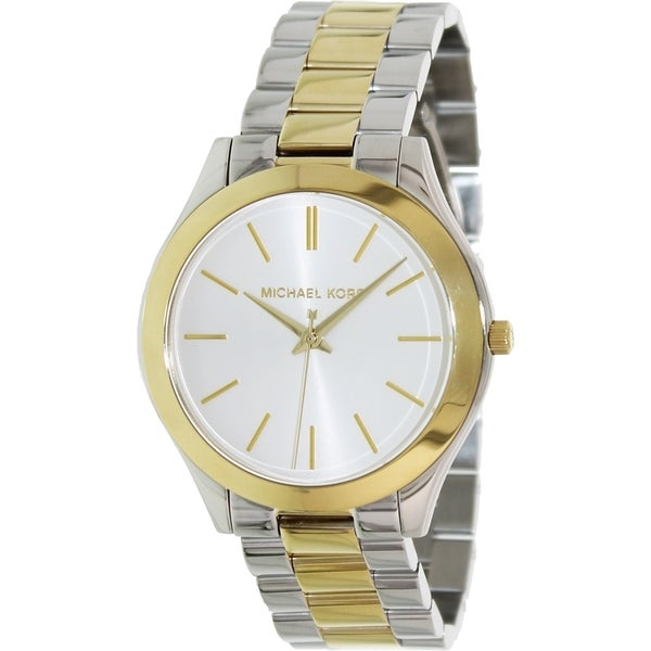 Michael Kors Women's MK3198 'Slim Runway' Two-Tone Stainless Steel Watch. Opens flyout.