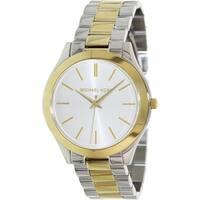 Michael Kors Women's MK3198 Slim Runway Two-tone Watch