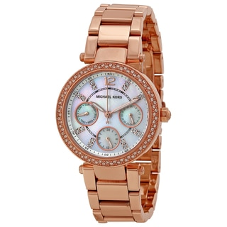 Michael Kors Women's MK5616 'Parker' Rose Goldtone Crystal Watch