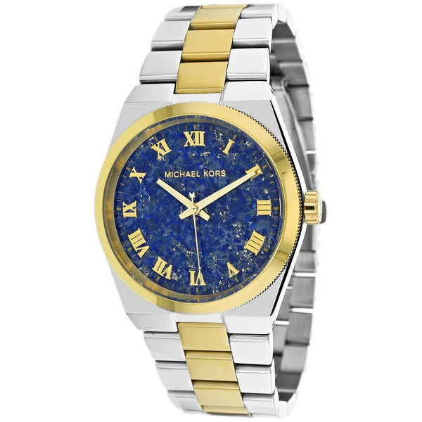 Michael Kors Women's MK5893 'Channing' Two-tone Blue Dial Watch