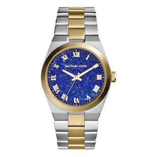 Michael Kors Women's 'Channing' Two-tone Blue Dial Watch