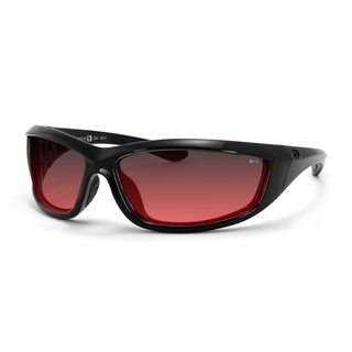 Bobster Charger Black Frame with Rose Lenses ANSI Z87 Sunglass