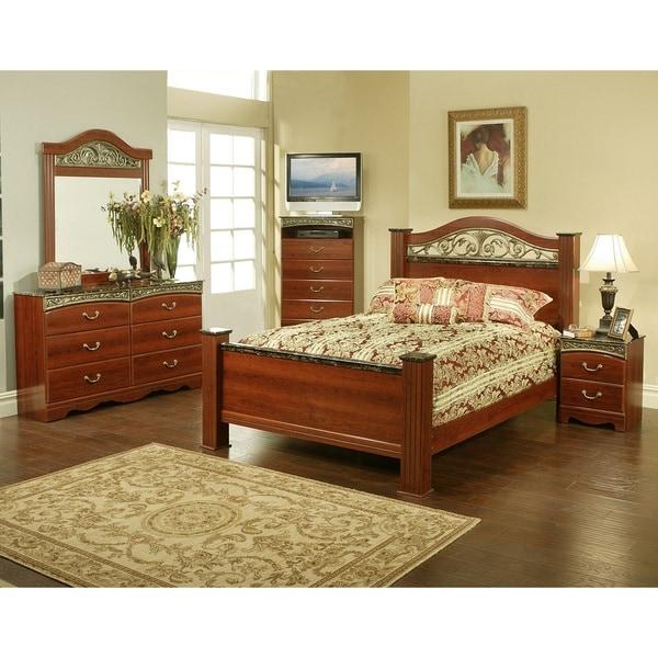 Sandberg Furniture Durban Cherry Laminate Estate Bed