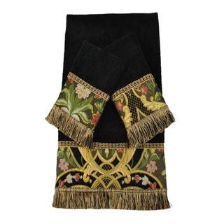 Austin Horn Classics Gustone Black Luxury Embellished 3-piece Towel Set