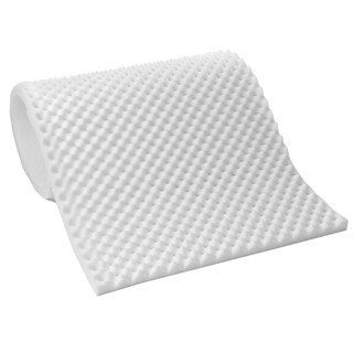 Lightweight 1-inch Convoluted Foam Mattress Topper