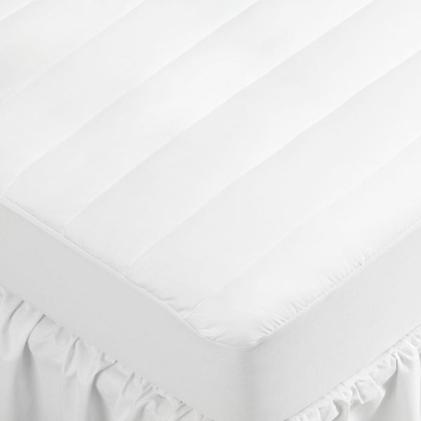White 250 Thread Count Fitted Mattress Pad