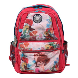 Nicole Lee Xochil Print Water-resistant Crinkle Nylon 17-inch Laptop Backpack