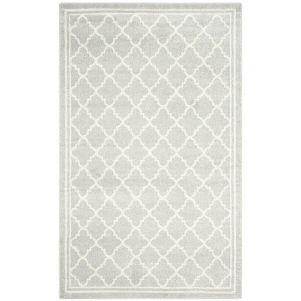 Safavieh Indoor/ Outdoor Amherst Light Grey/ Beige Rug - 10' x 14'