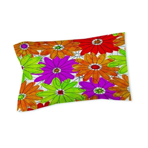 Funky Florals Daisy Fuchsia Pillow Sham