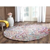 Safavieh Hand-Tufted Nantucket Multi Cotton Rug - 4' x 4' Round