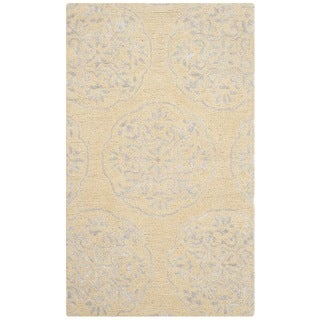 Safavieh Handmade Bella Beige/ Silver Wool Rug (3' x 5')