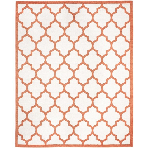 Safavieh Indoor/ Outdoor Amherst Beige/ Orange Rug (8' x 10')