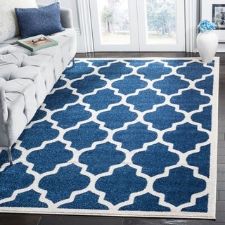 Safavieh Indoor/ Outdoor Amherst Navy/ Beige Rug (9u0027 X ...